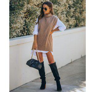Vici kaven sleeveless knit turtleneck sweater